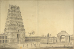View of the Pagoda of Chelimbaram [Chidambaram] 82-b-2